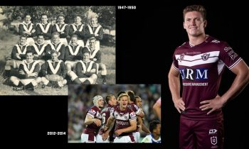 Manly Warringah Sea Eagles revela la camiseta de rugby 2020 local y visitante